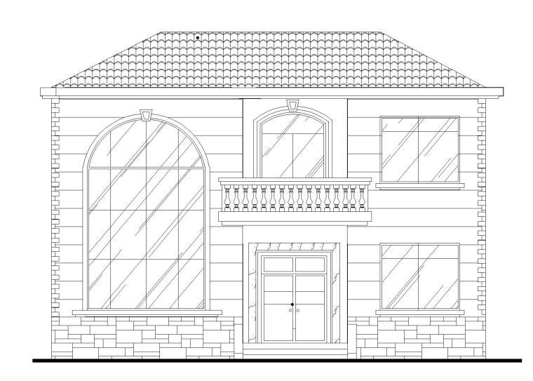 单家独院式别墅全套施工图(建筑结构水电图)