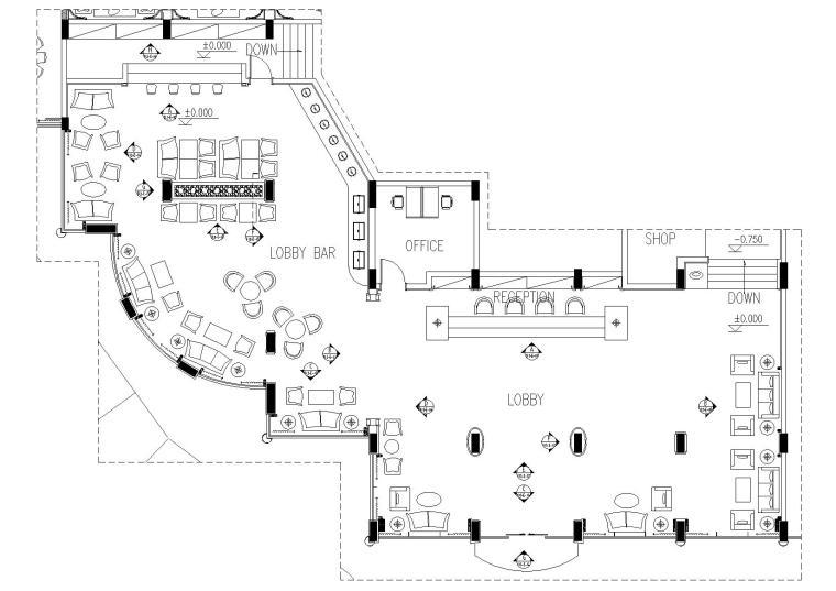 某酒店整套施工图+效果图+材料表+家具表