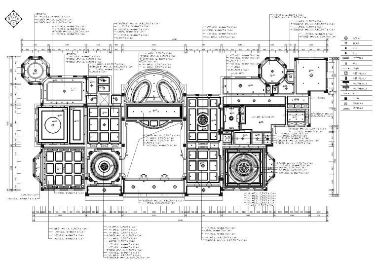 某会所室内装饰项目全套施工图+效果图