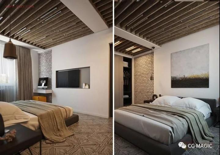 室内效果图之卧室灯光渲染教程