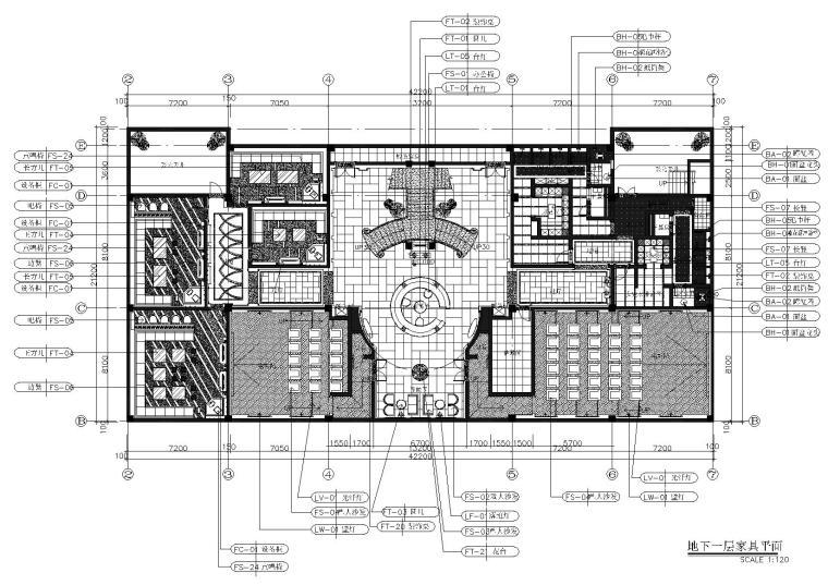 [哈尔滨]蓝湾半岛会所室内施工图+效果图