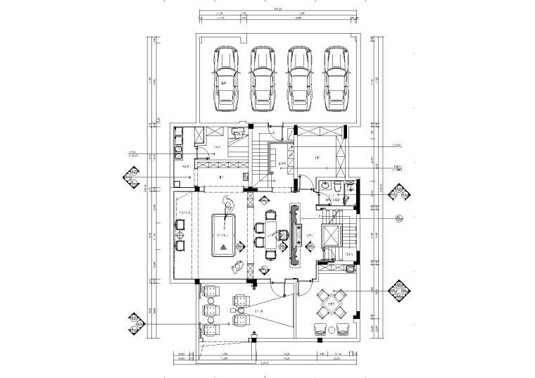 现代中式600㎡新中式三层别墅施工图+效果图