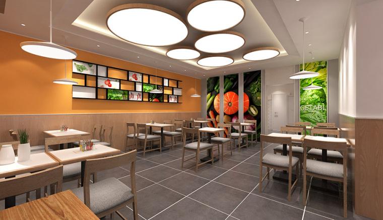 麻辣烫店餐厅设计案例效果图