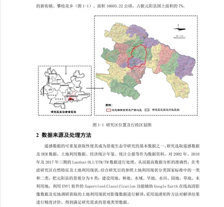 文化景观遗产保护下的元阳县景观格局研究 (2)