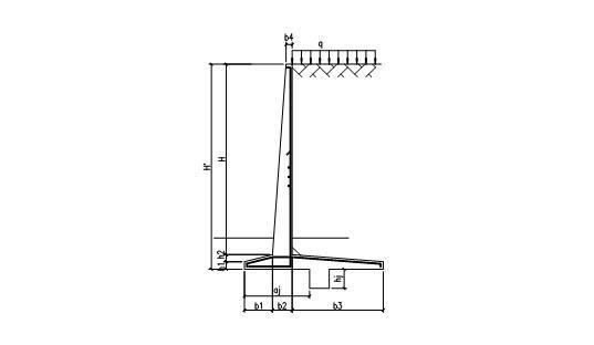 悬臂式混凝土挡墙侧压力计算excel