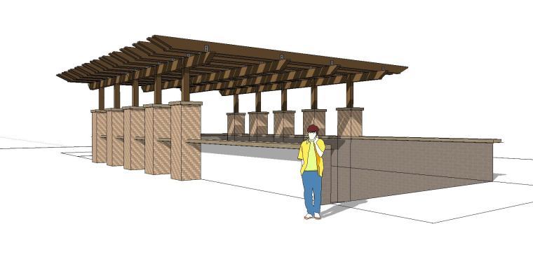 车库入口建筑模型设计(十二)