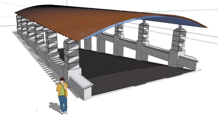 车库入口建筑模型设计(十三)