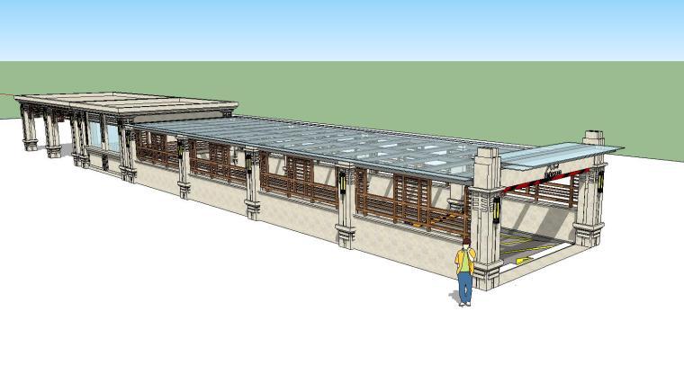 车库入口建筑模型设计(十一)