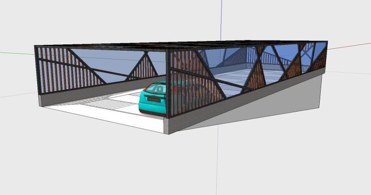车库入口建筑模型设计(九)