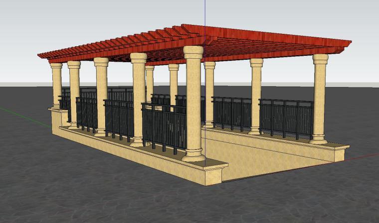 车库入口建筑模型设计(二十二)