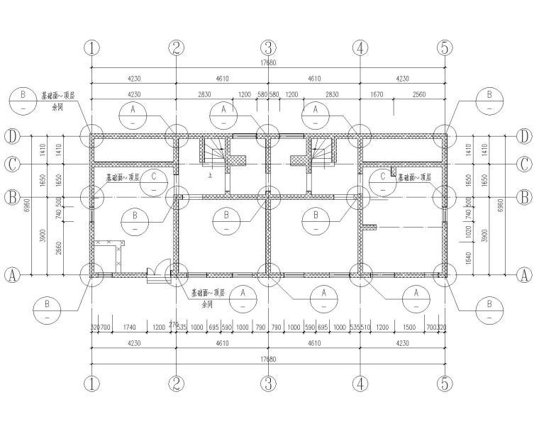 某三层别墅结构加固修缮施工图(CAD)