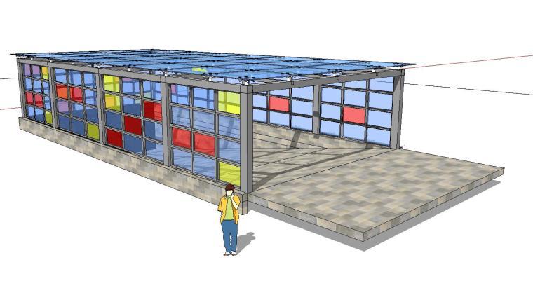 车库入口建筑模型设计(四)