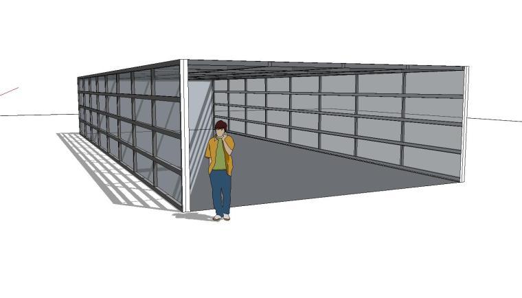 车库入口建筑模型设计(十七)