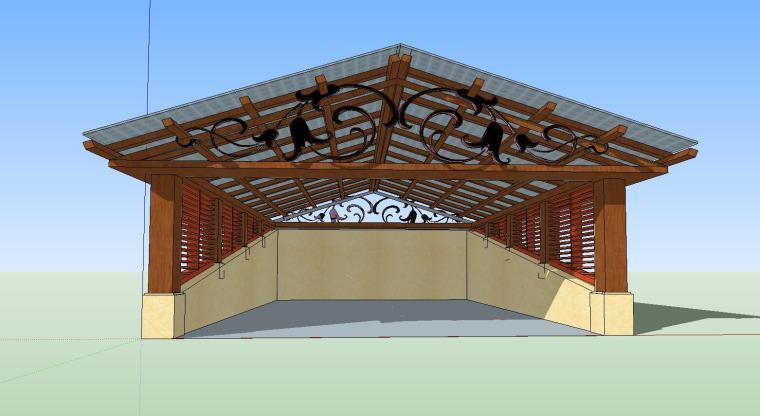 车库入口建筑模型设计(二十三)