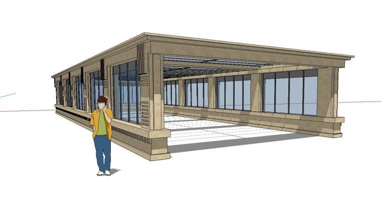 车库入口建筑模型设计(十五)