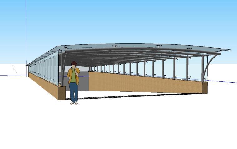 车库入口建筑模型设计(十)