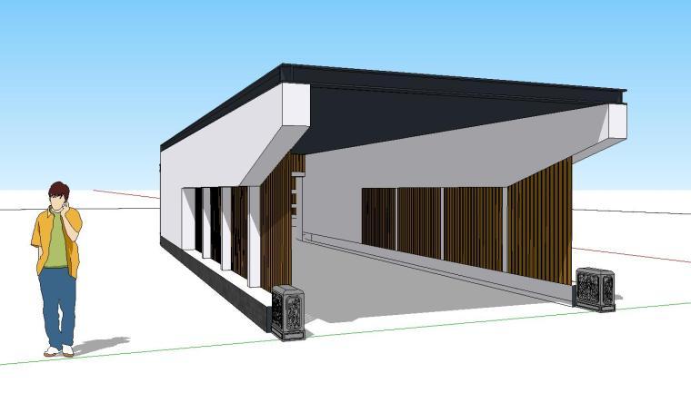 车库入口建筑模型设计(十八)