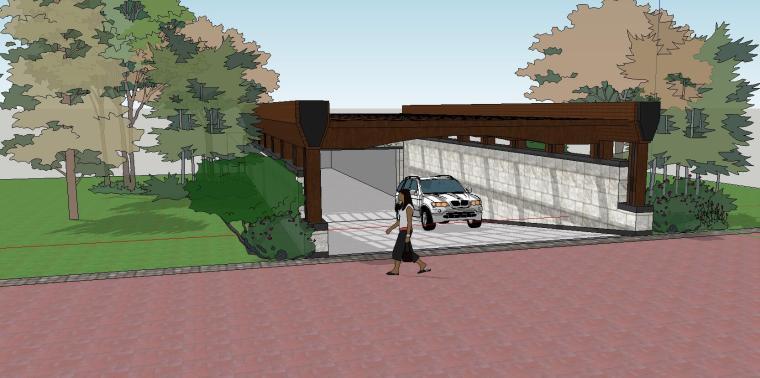 车库入口建筑模型设计(八)