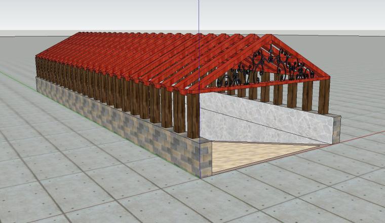 车库入口建筑模型设计(二十一)