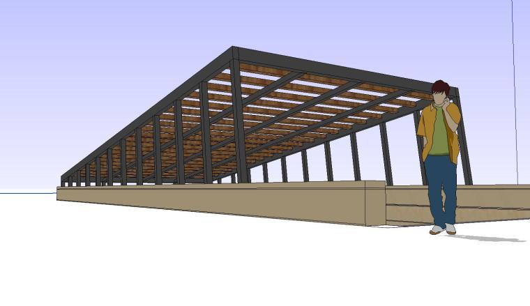 车库入口建筑模型设计(十六)