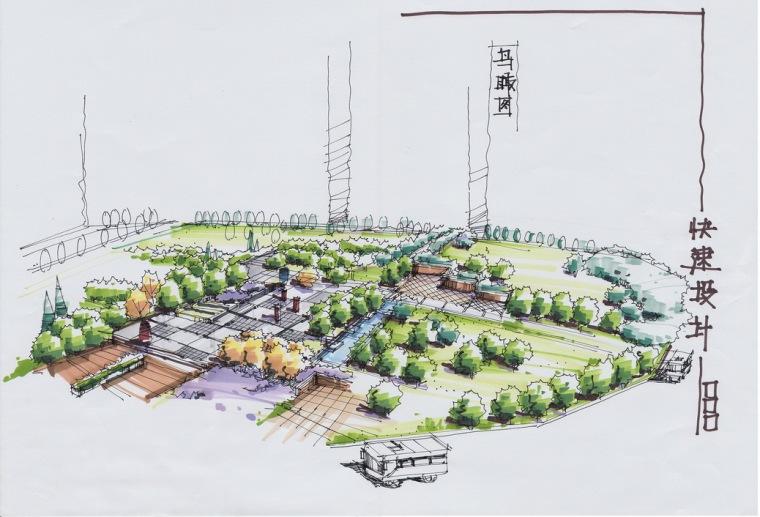 天津大学风景园林考研-鸟瞰画法参考16张