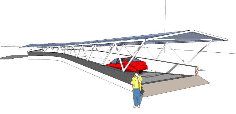 车库入口建筑模型设计(十四)