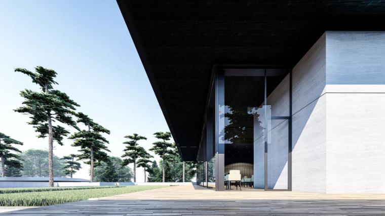 [江苏]现代风格餐厅建筑模型设计