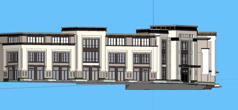 日式风新亚洲武柴厂商业建筑模型设计