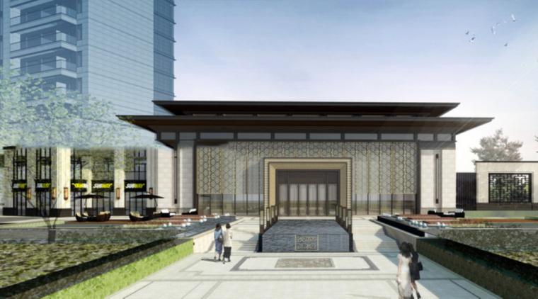 [广西]南宁新中式风格示范区建筑模型设计