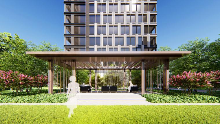 [重庆]现代风格高层住宅建筑模型设计