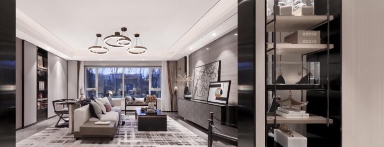 威海保利名著三居室样板房效果图+JPG平面图