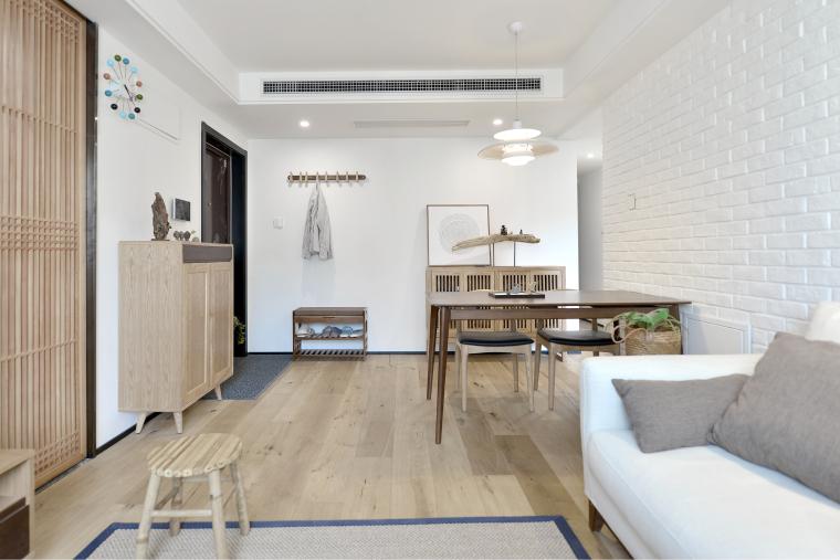 北欧风格小三居住宅改造设计效果图+JPG平面