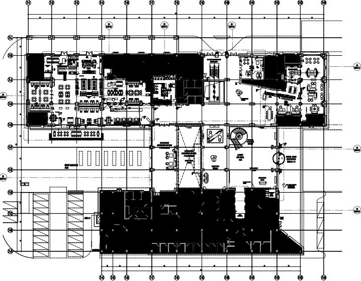 上海康桥万豪酒店室内装修施工图+设计方案