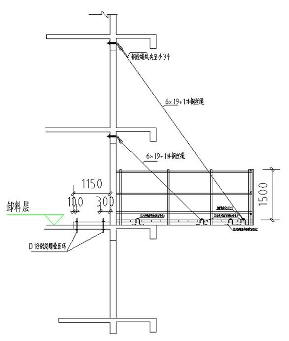 安置房项目卸料平台施工方案