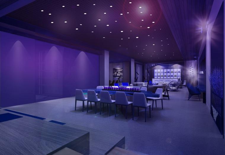 深圳某会所&办公室装修CAD施工图+设计方案-效果图 (10)