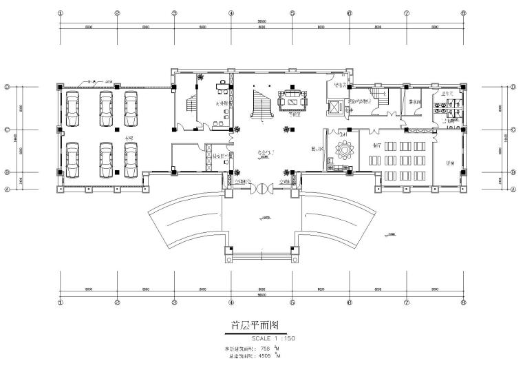 某7层办公楼室内装饰设计项目施工图