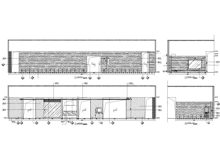 深圳某会所&办公室装修CAD施工图+设计方案-9接待区过道立面图