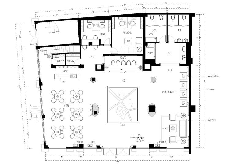 [湖南]株洲兆富售楼部装饰施工图+效果图