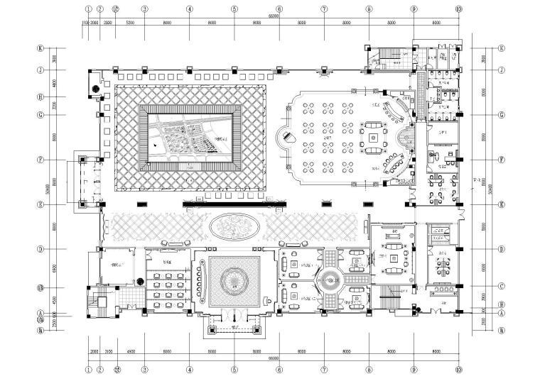 [江苏]常州大名城售楼部装饰施工图+效果图