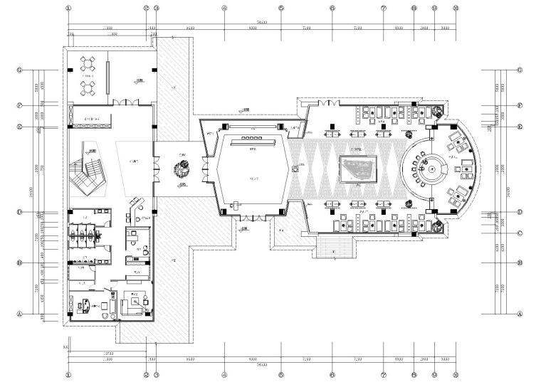 凯隆广场售楼部装饰设计项目施工图+效果图