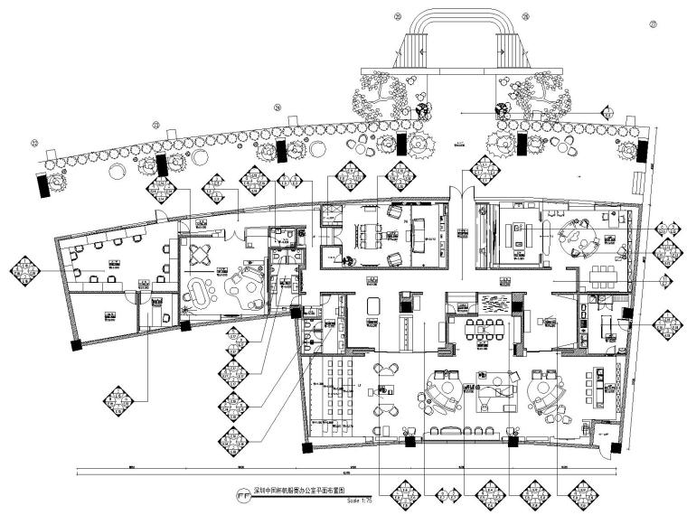 深圳某会所&办公室装修CAD施工图+设计方案