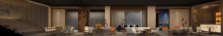 深圳某会所&办公室装修CAD施工图+设计方案-效果图 (9)