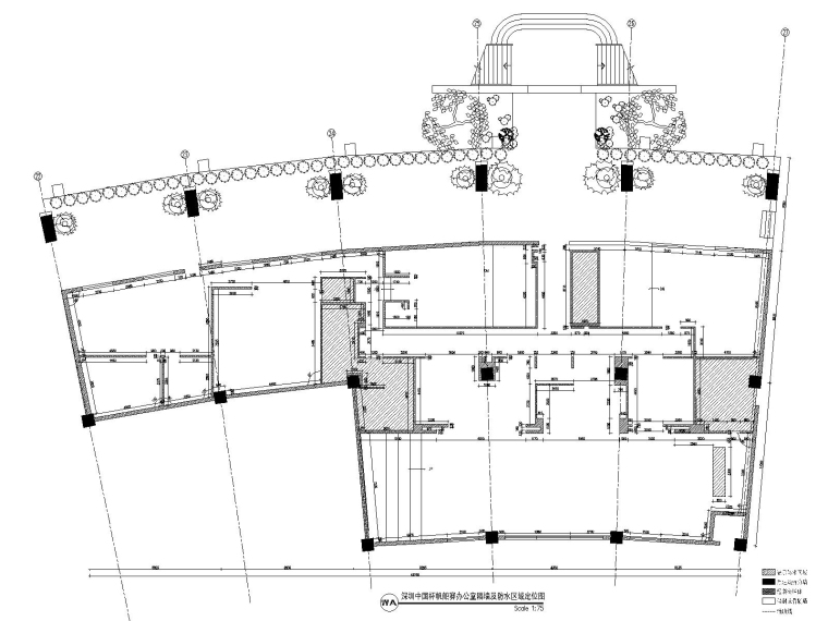 深圳某会所&办公室装修CAD施工图+设计方案-2