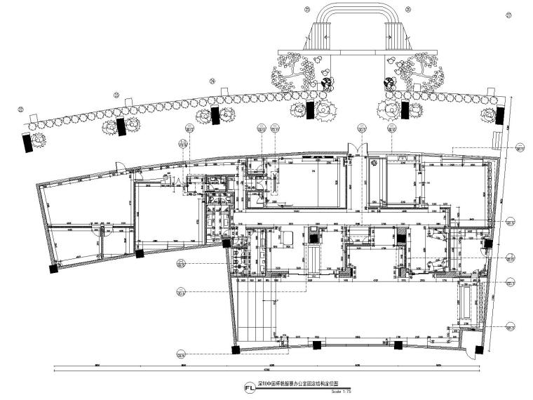 深圳某会所&办公室装修CAD施工图+设计方案-3