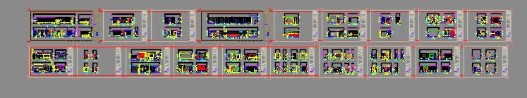 深圳某会所&办公室装修CAD施工图+设计方案-总缩略图1.