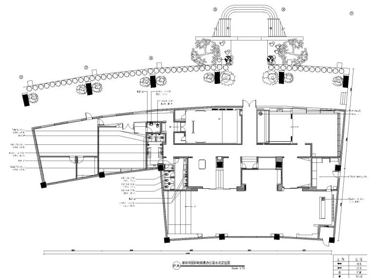 深圳某会所&办公室装修CAD施工图+设计方案-4