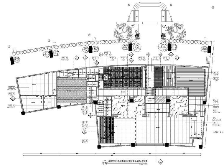 深圳某会所&办公室装修CAD施工图+设计方案-5