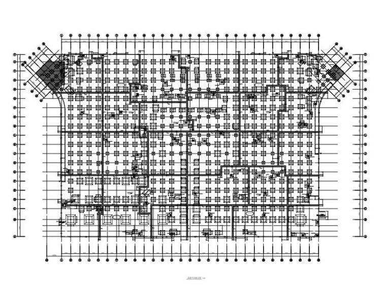 高铁站前广场地下空间结构施工图(含建筑)