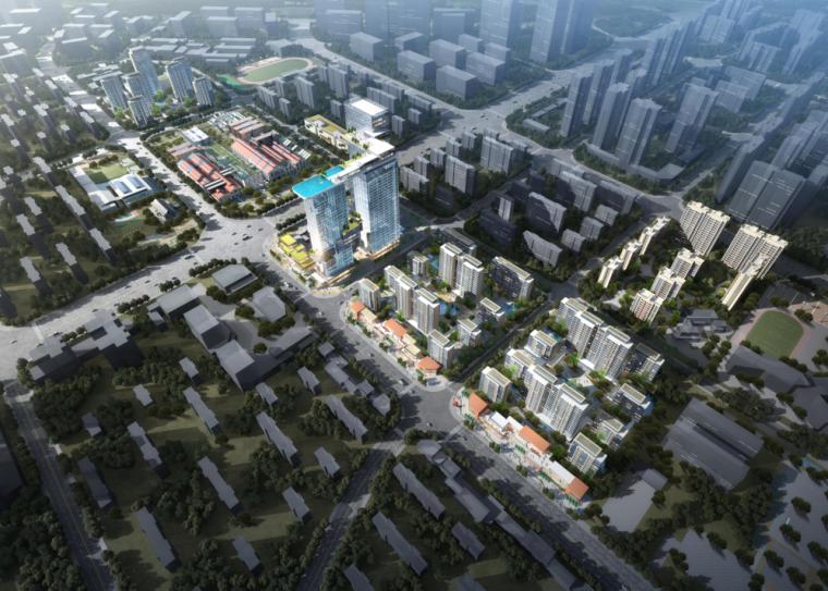 [四川]现代豪宅高层小高洋房居住组团规划