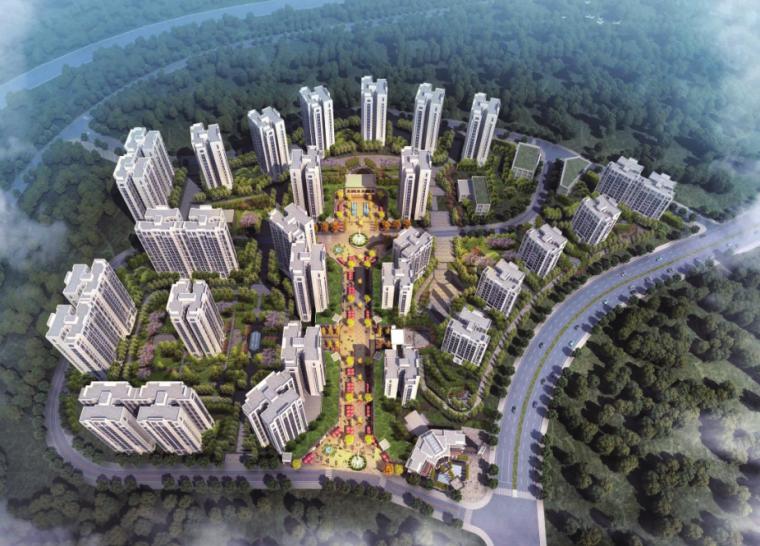 [重庆]江景山地住宅商业配套建筑方案